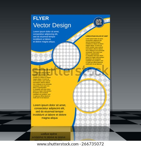Business poster, flyer, brochure cover, booklet vector template. - stock vector