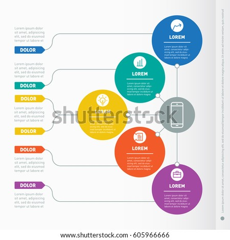 business presentation concept five options web stock vector 569523613 shutterstock. Black Bedroom Furniture Sets. Home Design Ideas