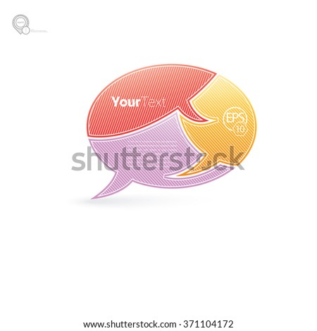 Business Presentation for Your Content - stock vector