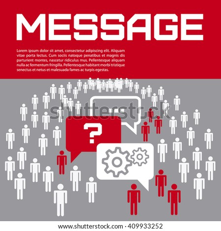 Business presentation - message, help. Vector illustration. - stock vector