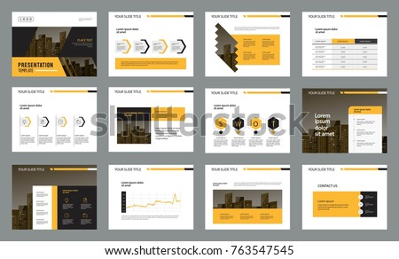 business presentation page layout template design stock vector
