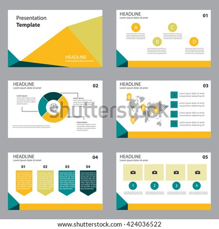 business presentation slide template design flat stock vector