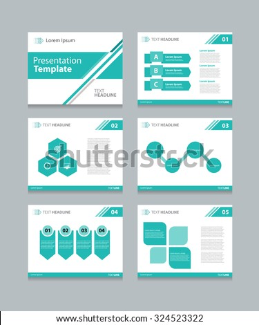 business presentation template slide design graphs and charts