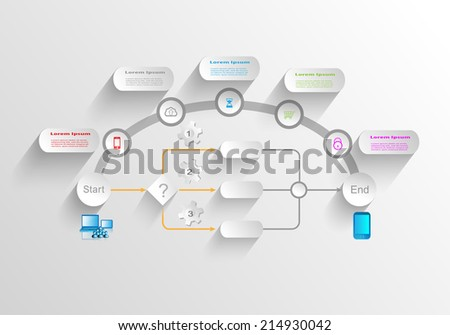 Business process infographics - stock vector