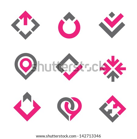 Business professional graphic elements logo and icon set - stock vector