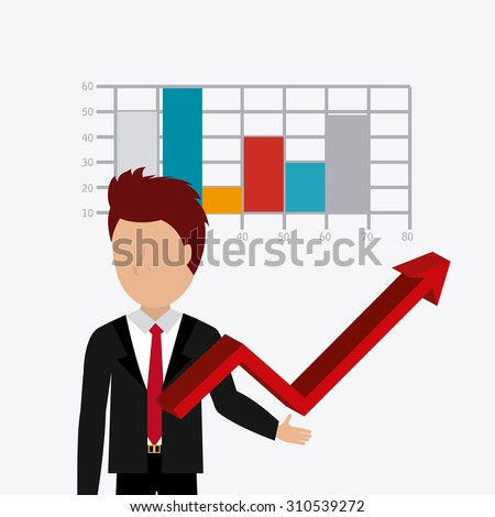 Business profit design, vector illustration eps 10.