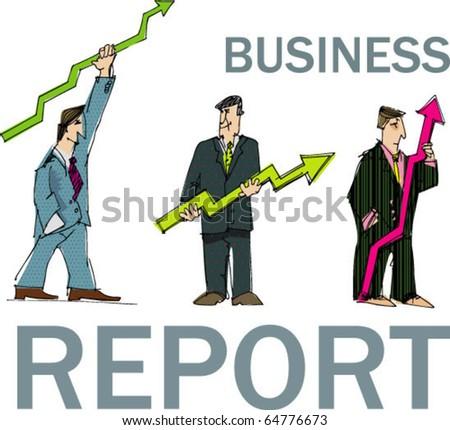 business report - stock vector