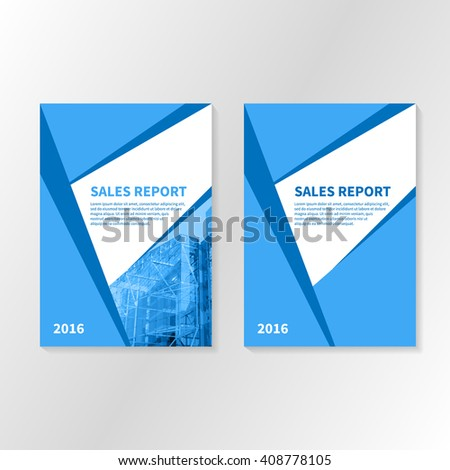 business report or booklet cover brochure layout template book title page poster