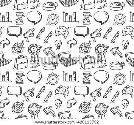 business seamless background - stock vector