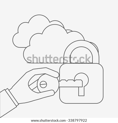 business security design, vector illustration eps10 graphic