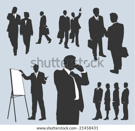 business set 1 - stock vector