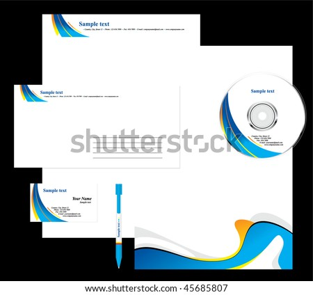 business set - stock vector