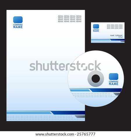 Business Set. Editable Vector. - stock vector