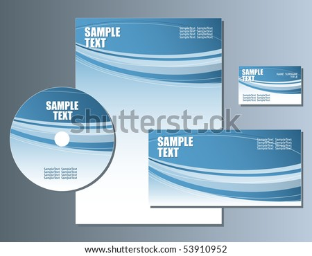 Business Set. Vector Easy Editable - stock vector