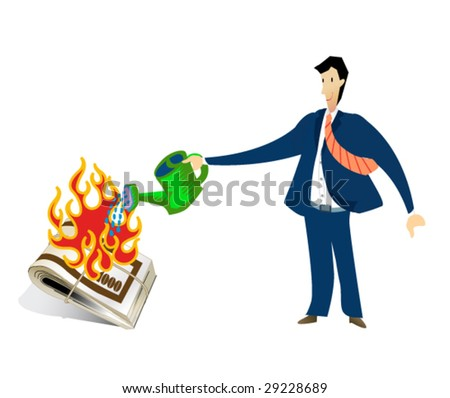 business sign #6 - crisis - stock vector
