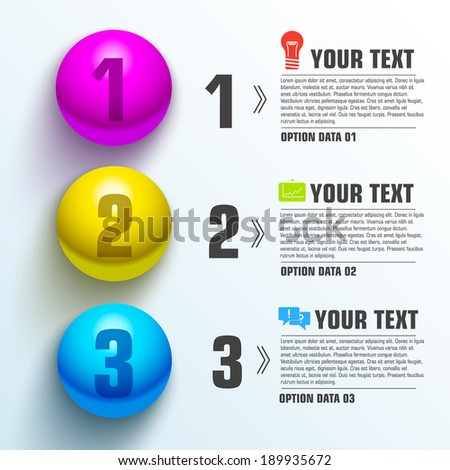 Business sphere infographic template with text fields. Vector Illustration