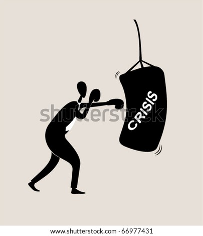 Business sports. Boxing - stock vector
