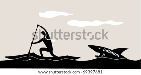 Business sports. Canoe racing - stock vector
