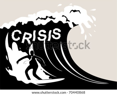 Business sports. Surfing - stock vector