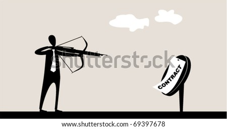 Business sports. Target archery - stock vector