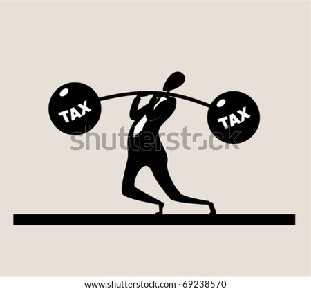 Business sports. Weightlifter - stock vector