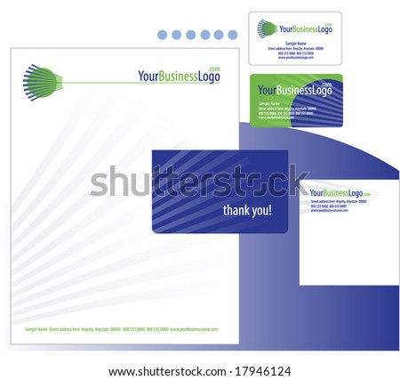 business stationary template 1 - stock vector