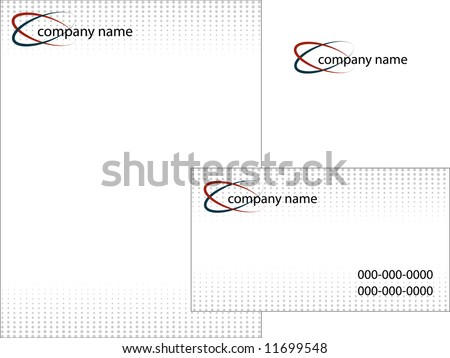 Business stationery set, vector sketch#1 - stock vector