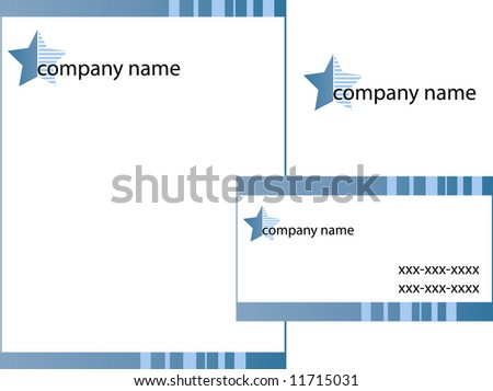 Business stationery set, vector sketch#5 - stock vector