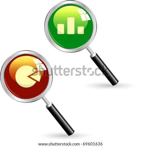 Business statistics vector. Diagram icons. - stock vector