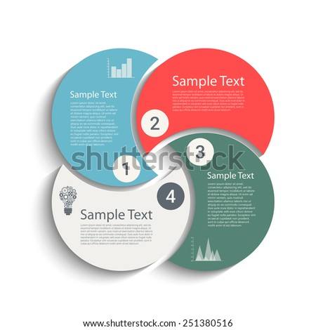 Business steps template for your design. Eps10 vector for your design - stock vector