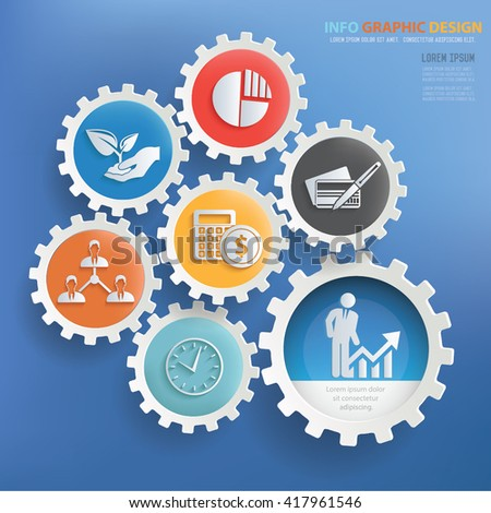 Business,strategy concept design on blue background,vector - stock vector