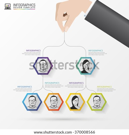Business structure. Organisation chart. Infographic design. Vector illustration - stock vector