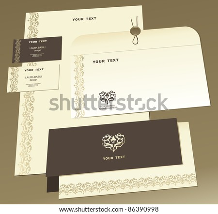 Business style templates for your project design. - stock vector