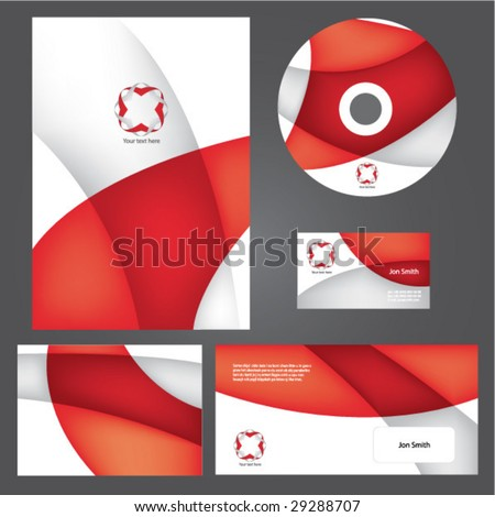 Business style templates. Vector. - stock vector