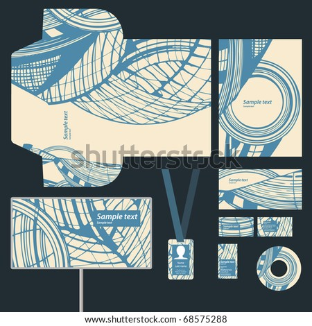 Business style, vector - stock vector