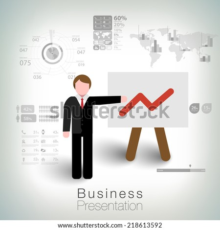 Business succes concept design - stock vector