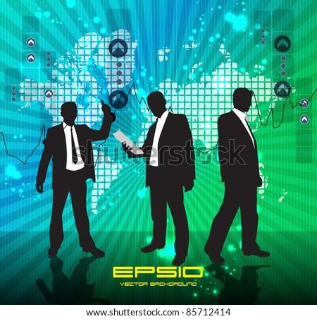 Business symbol - stock vector