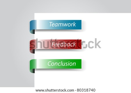 Business tags - stock vector