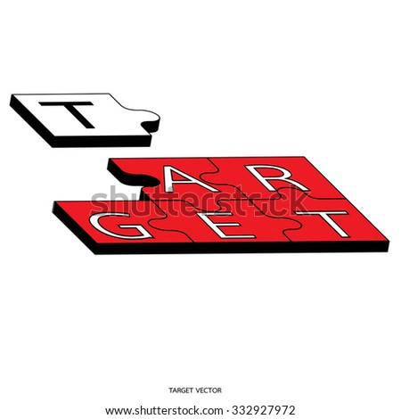 Business target marketing concept. Vector - stock vector