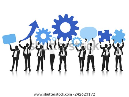 Business team social networking vector