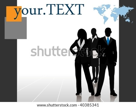 Business team with room for your text - layered - stock vector