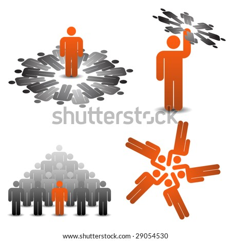Business teamplay icons 1/2 - stock vector