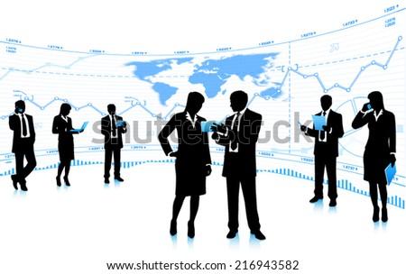 Business teamwork. (EPS10 vector) - stock vector