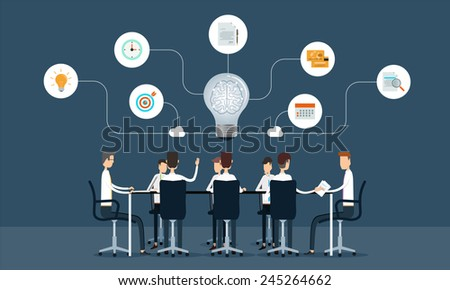 business teamwork meeting and brainstorm concept - stock vector