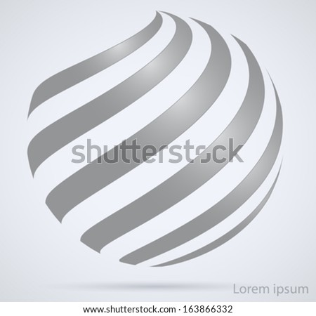Business technology abstract sign. Spiral in the form of a circle - stock vector