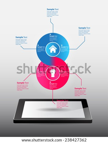 Business technology bubble speech template style. text box template for website computer graphic and internet.  - stock vector