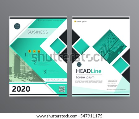 Business Template Brochure Cover Designannual Report Stock Vector - Template for brochure