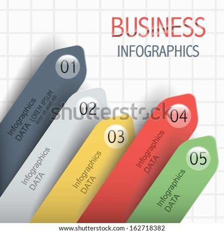 business template infographic for your data. Better financial indicators of the company. - stock vector