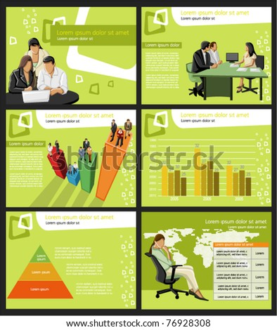 Business Template. Vector illustration. - stock vector