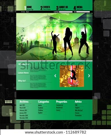 Business template web site. Website vector - stock vector